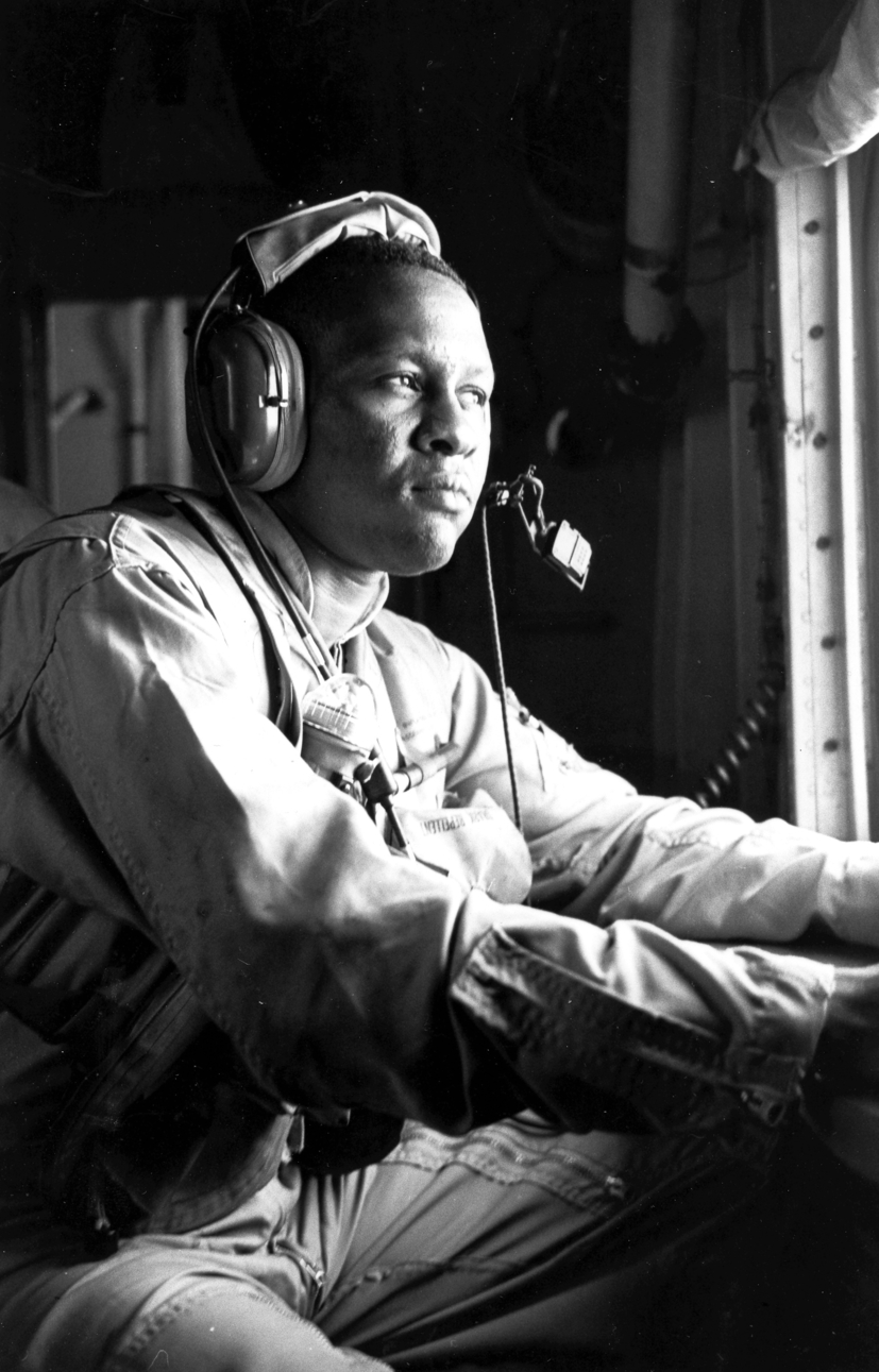 Radioman aboard SP-5B Marlin