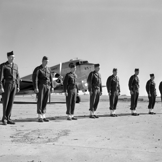 Air Policemen defy anyone to touch the squadron's C-47.