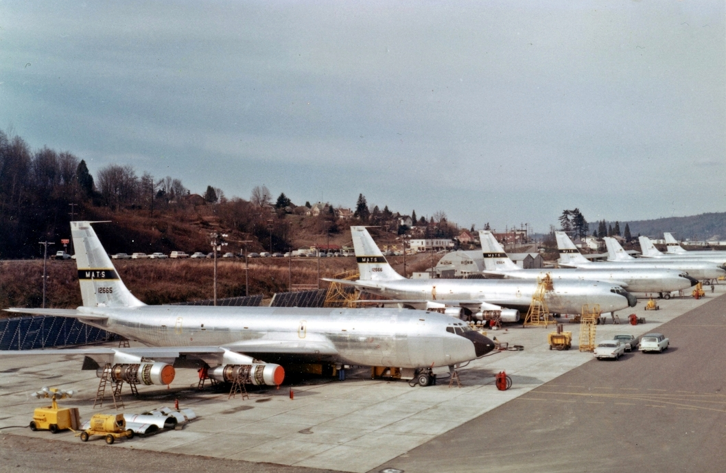 61-2664, 665, 666, and 667 on the Renton ramp in the early 60's. All were converted to some form of intelligence gathering configuration.