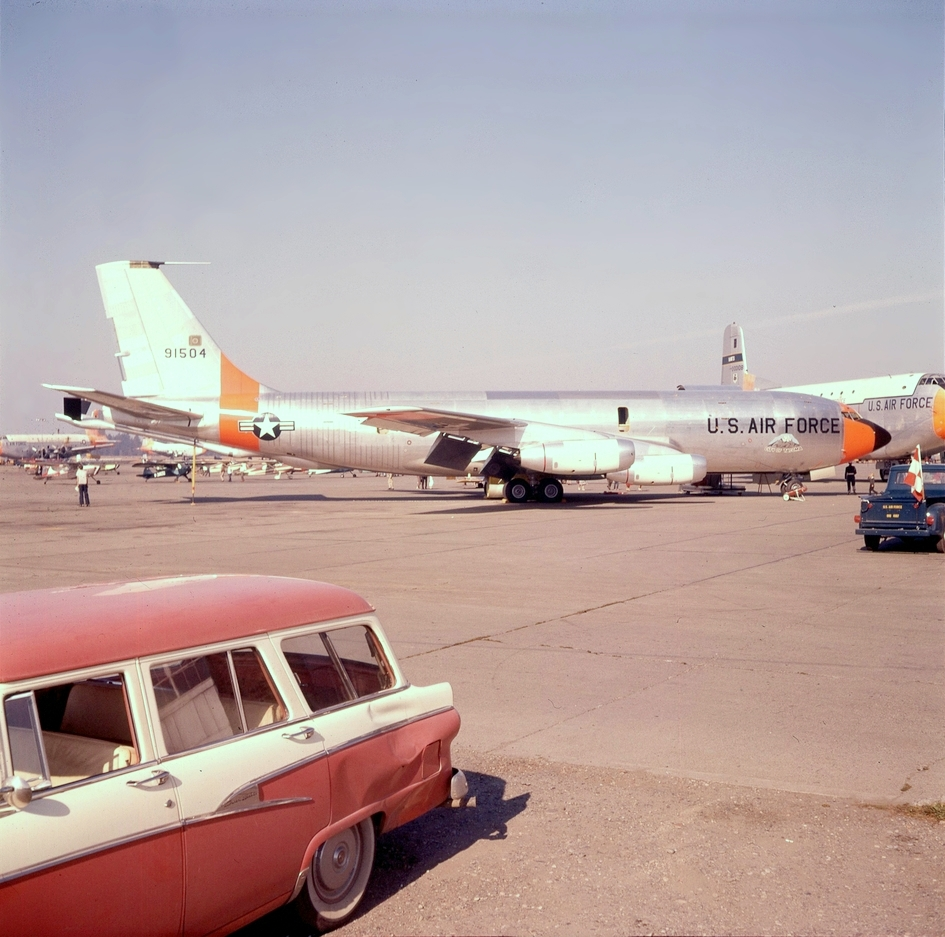 "KC-135A 59-1504 ""City of Tacoma"" on the ramp at McChord AFB in 1961."