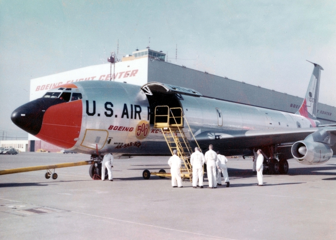 "61-0278 was the 500th KC-135. Delivered in 1962, she was dubbed ""Miss Ak-Sar-Ben"" - ""Nebraska"" spelled (for whatever reason) backwards. She was converted to an EC-135 and ended her life in the bone yard."