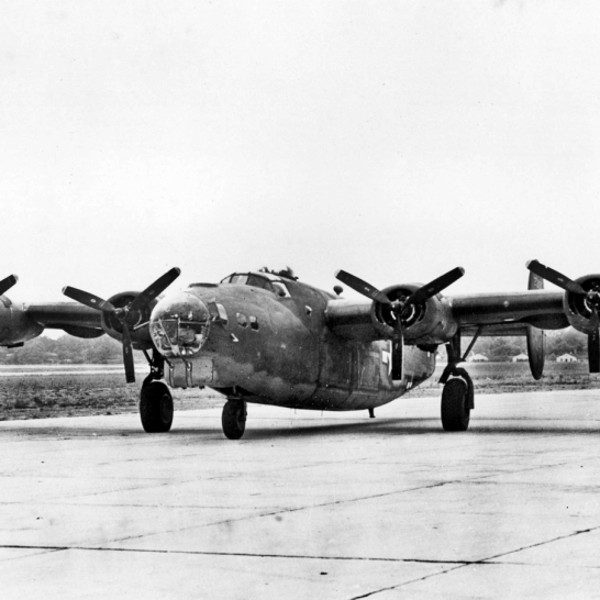 "The XB-24J (42-73130) was a one of a kind aircraft that incorporated the nose of a B-17G. (Translation: Okay, maybe that wasn't such a hot idea after all.) Due to the numerous ""Frankenstein"" versions of highly modified B-24s, there must have been something about its design that caused engineers to have fantasies about modifying the aircraft into something it was never intended to be."
