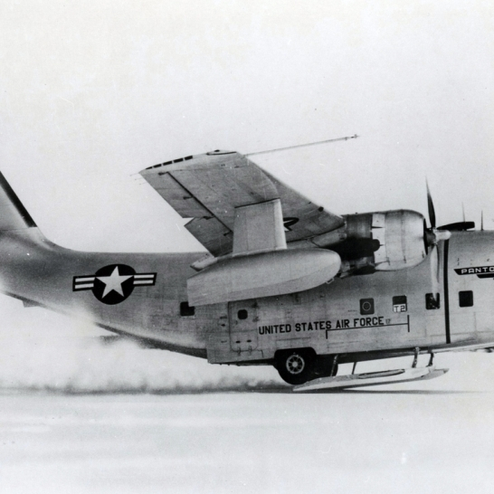 The YC-123 was fitted with skis, wing floats, and a host of other devices with the idea of having an aircraft that could fly (and land) just about anywhere.