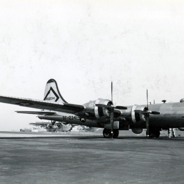 44-62234 of the 43rd Bomb Wing. Must be at a Naval Air Station - there are PBM Mariners in the background.
