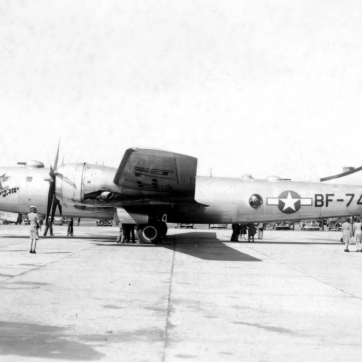 "44-8771 of the 509th Bomb Wing was also known as ""Priv' Love Witch""."