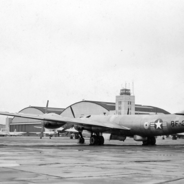44-86345 of the 2750th Air Base Wing is seen at it's home of Wright-Patterson AFB.