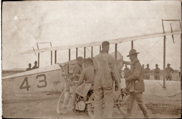 This Curtiss JN-2, Signal Corps No. 43, was the first aircraft assembled and flown after the 1st Aero Squadron arrived in Columbus, New Mexico, in March, 1916.