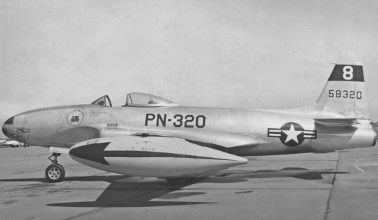45-8320 of the 61st Fighter Squadron, Jet Propelled.