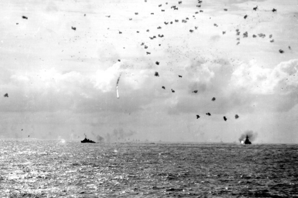 Taken from Randolph, a wall of anti-aircraft fire sends an attacker to his doom.