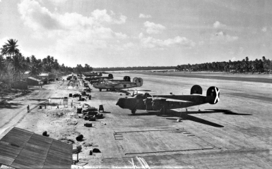 Liberators of No. 356 Squadron on West Island. Photo credit to Robert Livingstone whose father served as an RAAF navigator in No. 160 Squadron.