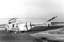 Sikorsky H-19 of the 39 Air Rescue Squadron visits Johnson AB. The remains of this aircraft are currently in an Arizona salvage yard.