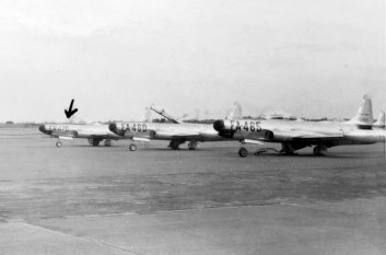 F-94s of the 339th Fighter Interceptor Squadron. Serials are 51-5460, 465, and 470. The latter crashed in 1954.