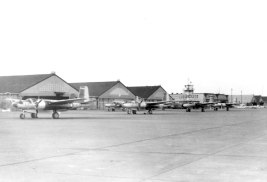Line up of A-26s of the 6th Tow Target Squadron.