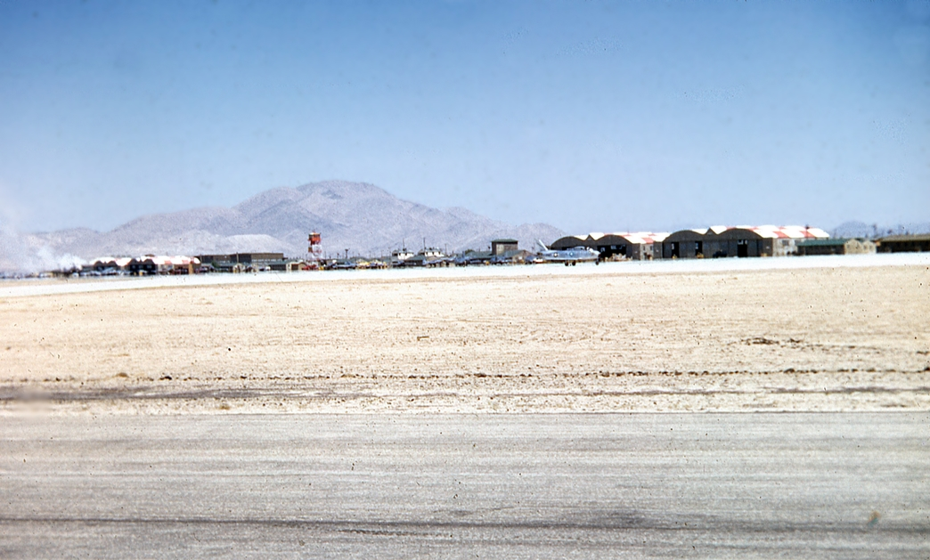George AFB closed in the early 90s, but even then the flightline had changed very little from when this photo was taken almost 70 years ago. The hangars still stand today, but now the ramp is crowded with civil aircraft.