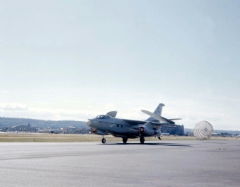 VA-3B (142672) was assigned as a VIP aircraft when this photo was taken in the early 1970s.