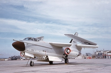 142651, like many a Skywarrior, was in service long enough to undergo major changes to its original purpose. It ended its days as a tanker/electronic warfare bird.