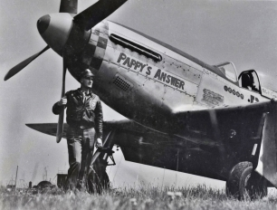 """Pappy's Answer"", a P-51D (44-14736) piloted by Lt. John Stern, 363rd Fighter Squadron."