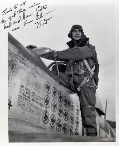 "Leonard ""Kit"" Carson, top ace of the 357th Fighter Group."