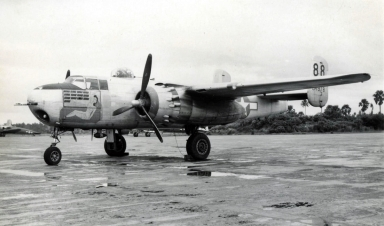 B-25H (43-4978) shows its markings for 78 missions.