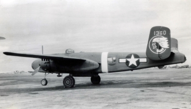 "B-25J of the 345th Bomb Group, the famous ""Air Apaches""."