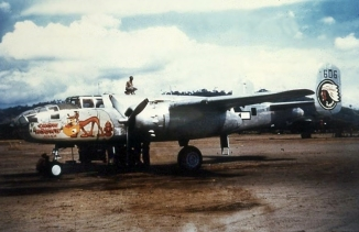 """Chow Hound Junior"" (41-30606) was a B-25D of the 345th Bomb Group, 500th Bomb Squadron."