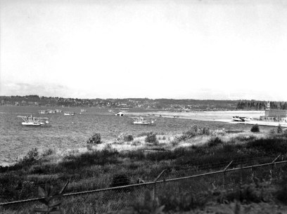 NAS Seattle, 1939. Most of the aircraft are P2Ys, but a lone PBY can be seen on the ramp.