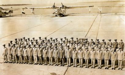 A bunch of newly hatched PBY drivers, NAS Corpus Christi, 1944.