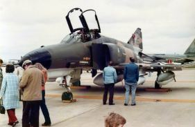 """F-4E 67-0301 from George AFB was credited with downing a MiG-21 in 1972, yet wears no markings to indicate such. This was not uncommon in the late 70s. We had several """"MiG Killer"""" Phantoms in my squadron at the time, and they bore no markings either."""