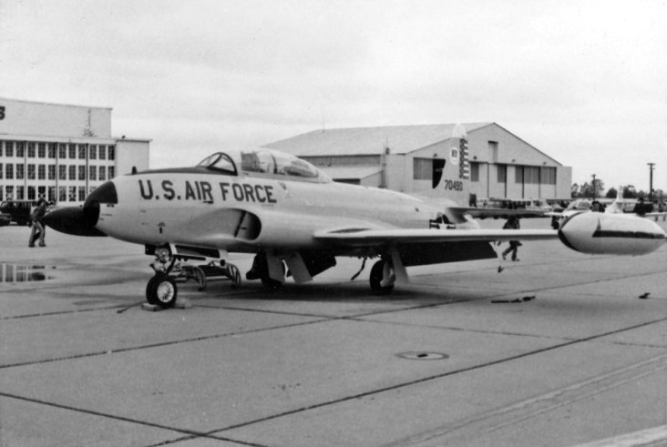 """Note: This T-33 from Tyndall AFB wears the number """"70490"""" but in actuality is 58-0490. These things happen."""